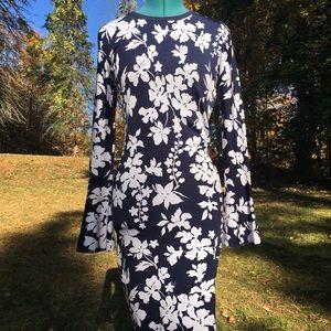MICHAEL Michael Kors Body Con Floral Knit Dress
